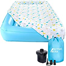 Air Mattress for Kids with Washable Fitted Sheet, Safety Bumpers and AC Pump (Inflates in 60 seconds)