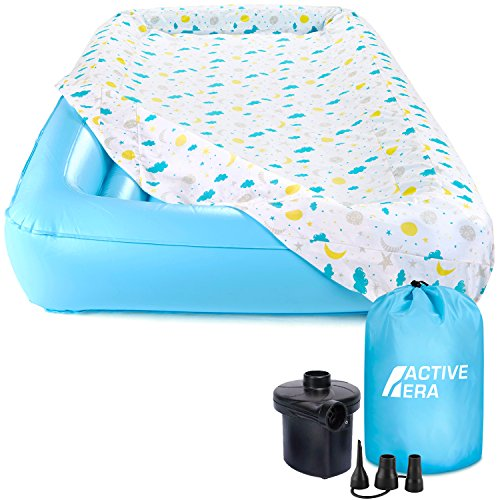 Air Mattress for Kids with Washable Fitted Sheet, Safety Bumpers and AC Pump (Inflates in 60 seconds) (Air Mattresses For Kids)