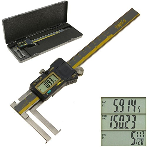 """iGaging 100-700-37 Groove Caliper, Inside ABSOLUTE ORIGIN 0-6"""" Digital Electronic Internal Slot, Inch/Metric/Fraction IP54 Protection"""