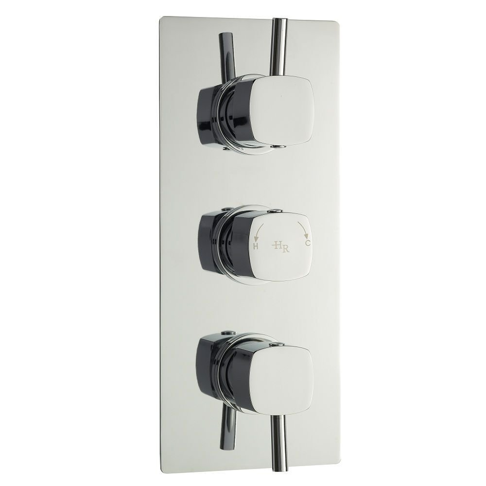 Kia/Jule Triple Concealed Thermostatic Shower Faucet Valve with Built-in Diverter 3 Outlet Options by Hudson Reed (Image #1)