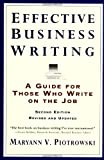 Effective Business Writing, Maryann V. Piotrowski and Piotrowski, 0062733818