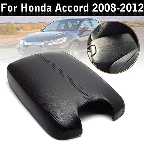 Issyzone Center Console Lid for Honda Accord 2008 2009 2010 2011 2012 Leather Armrest Cover (Honda Aftermarket Accessories)