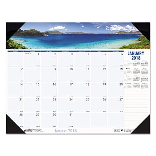 House of Doolittle 178 Coastlines Photographic Monthly Desk Pad Calendar, 22 x 17, (Photographic Desk Pad Calendar)