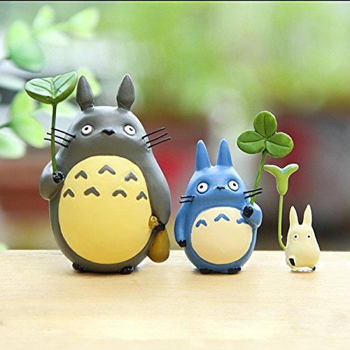 My Neighbor Totoro With Leaf Miyazaki Hayao PVC Mini Action Figures Collection Model Kids Toy for Children