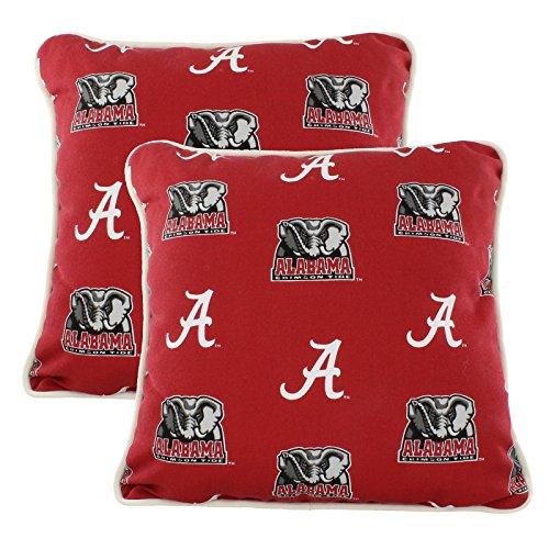 Alabama Crimson Tide Outdoor Decorative pillow Pair - (2) 16