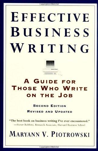 the essential handbook for business writing pdf