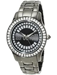 Just Cavalli Womens R7253169125 Ice Round Stainless Steel Swarovski Crystal Luminous Watch