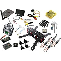 FPV 5.8G TX RX Carbon Fiber Mini 250mm Quadcopter T6 Radio W/3s lipo Changer