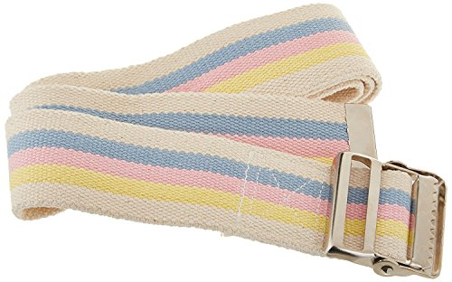 Sammons Preston Gait Belt with Metal Buckle, 2'' Wide, 48'' Long Heavy Duty Gait Transfer Belt, Essential Walking and Transport Assistant for Elderly, Disabled, and Medical Patients, Pastel by Sammons Preston