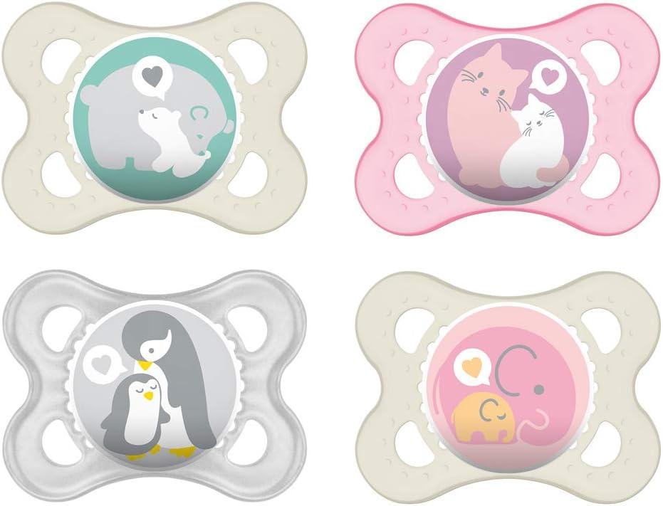MAM Original - Chupete de látex de caucho natural 0-6 (4 unidades, incluye 2 cajas de transporte esterilizadas): Amazon.es: Bebé