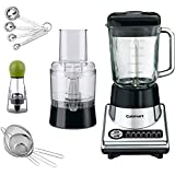 Cuisinart BFP-10CH PowerBlend Duet Blender/Food Processor w/Bundle Includes, Cuisinart Set of 4 Measuring Spoons, Cuisinart Set of 3 Mesh Strainers, Carteret Twist & Spice Manual Spice Mill