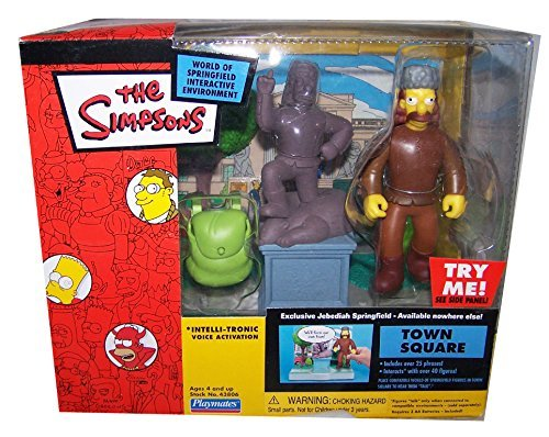 SIMPSONS TOWN SQUARE w/ JEBEDIAH SPRINGFIELD SERIES 16 MIB by - Town Springfield