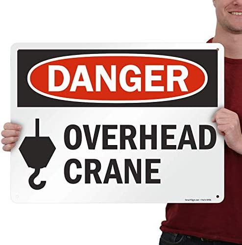 Details about  /Danger Crane Working Overhead Sign Metal//Aluminium Safety Warning UV Print Signs