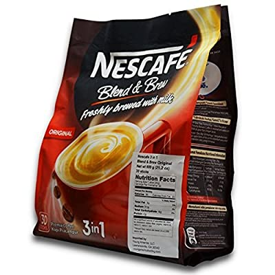 NEW! Nescafé IMPROVED 3 in 1 ORIGINAL (was REGULAR) Premix Instant Coffee - Taste Creamier & More Aromatic - Don't Need Creamer & Sugar Anymore - Coffee On The Go, Make Your Life Easier - 20g/Stick - 30 Sticks TOTAL by Nescafe
