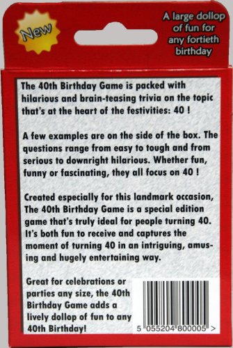 The 40th Birthday Game Fun New Gift Or Party Idea Specially