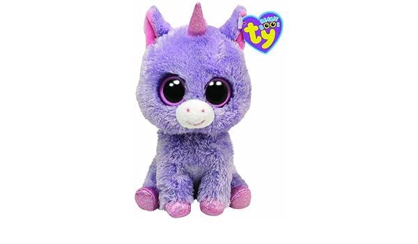 Ty 7136043 Beanie Boos - Peluche de bebé unicornio (15 cm) color morado [Importado de Alemania]: Amazon.es: Juguetes y juegos