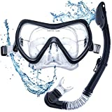 DIVE IT Snorkel Mask - Snorkel Set - Scuba Mask with Dry Snorkel Mask with Dry Snorkel Anti-fogging Lens & Dual Strap System