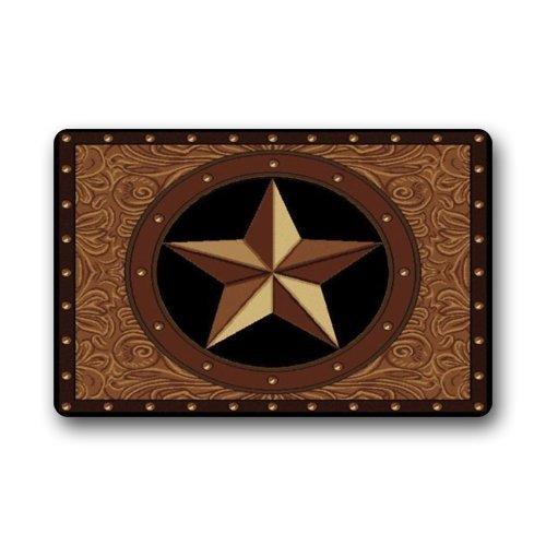 """Western Texas Star Doormat Welcome Door Mat For Home Decoration Bathroom Floor Mat Rug Carpets Indoor/Outdoor (23.6""""X15.7"""")"""