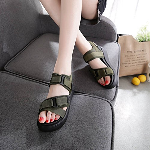 Open JULY Toe Slip Sandals Comfy Platform Green Beach Dress Slipppers Wedge Walking on Summer Casual T Girls Students XwYXdz