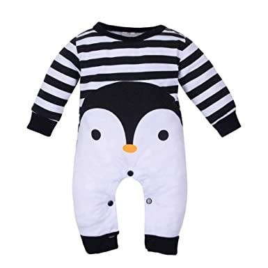 be43dc1c7a72 Amazon.com  Newborn Infant Baby Boy Girl Jumpsuit for 3-18 Months ...