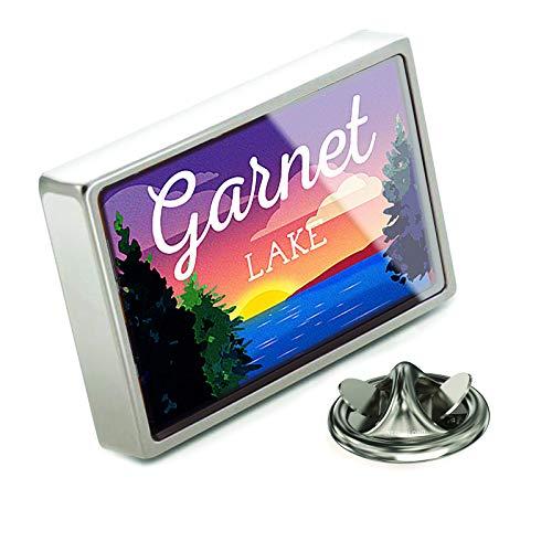 NEONBLOND Lapel Pin Lake Retro Design Garnet Lake