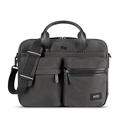 Solo Hamish Briefcase, Ash (Hard Sided Notebook Case)