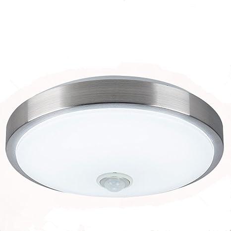 ZHMA Sensor de movimiento Sensor de cuerpo de lámpara de techo de 18 vatios, Lámpara