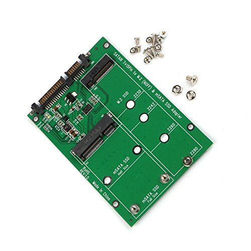 MECHREVO 2-in-1 NGFF M.2 or mSATA SSD to SATA 3.0 Adapter Converter Card, Support Mini SATA Hard Drive or M.2 B Key HDD SSD by MECHREVO (Image #1)