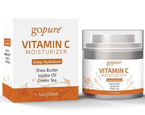 goPure Vitamin C Day Moisturizer - Deep Hydration with Jojoba Oil, Shea Butter & Vitamins C & B5