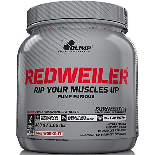 Orange Nitric Oxide - Olimp Nutrition RedWeiler Strong Nitric Oxide Pre Workout (480g, Orange Juice) by Olimp Nutrition
