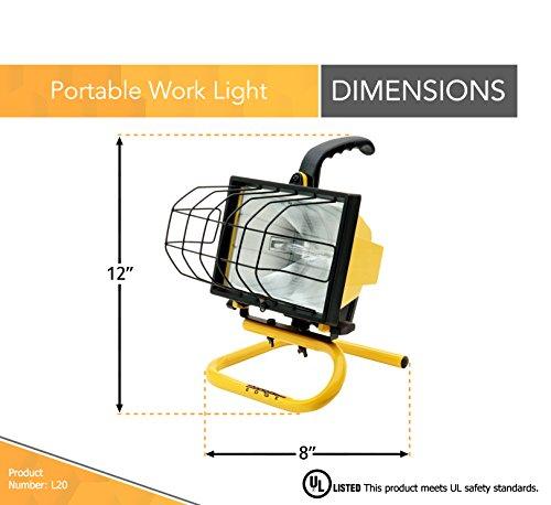 Designers Edge 500 Watt Portable Work Light: Woods 500 Watt Portable Work Light, Yellow