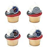 Jurassic World Fallen Kingdom Dinosaurs Cupcake Topper Rings - Set of 12