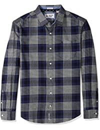 Men's Brushed Plaid Flannel Dress Shirt