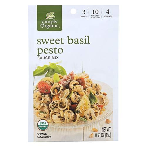 (Simply Organic Sweet Basil Pesto Seasoning Mix - Case of 12 - 0.53 oz.)