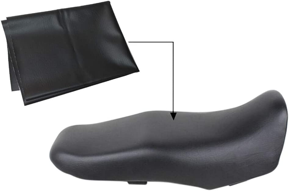 Esplic Motorrad Leder Sitzbezug Verschleißfeste Universal Motorrad Roller Atv Leder Seat Protector Auto