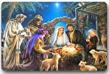 Christmas Nativity Holy Family, Tree--Three Wisemen Christmas 15.7''(W) x 23.6''(H) Non-woven Fabric Multifuntional Doormat
