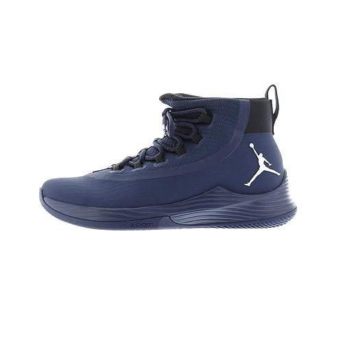 finest selection 552b5 442ff Nike Mens Jordan Ultra Fly 2 TB, Midnight Navy/Metallic Silver-Black, 12