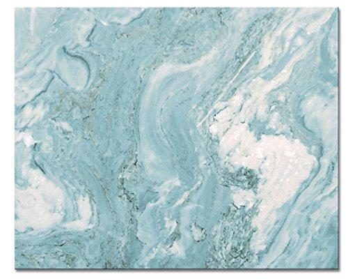(CounterArt 'Teal Quartz' Glass Cutting Board, 15 x 12