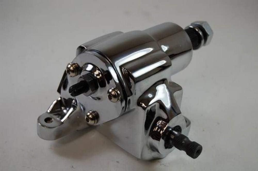 Cylindrical Chrome GM Chevy Saginaw Power Steering Pump Street Hot Rod Keyway