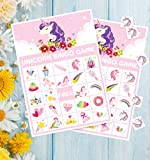 Unicorn Bingo Game Party Supplies - Girls Magical Rainbow Birthday Favors Decorations (24 Players)