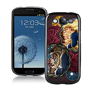 Hot Sale Samsung Galaxy S3 I9300 Case ,Popular And Unique Designed With Beauty And The Beast 2 Black Samsung Galaxy S3 I9300 High Quality Cover