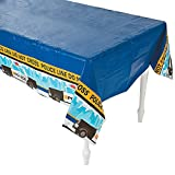 Police Party Tablecloth Plastic Table Cover - 54