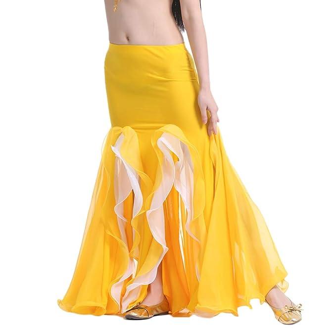 Falda De Danza De Vientre para Mujer Falda Latino Flamenco ...