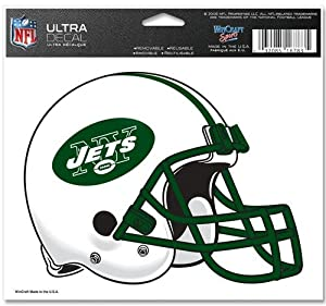 "New York Jets Team Logo 5""x6"" NFL Helmet Decal"
