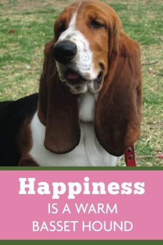 Download Happiness Is A Warm Basset Hound (6x9 Journal): Dog Pink Green, Lightly Lined, 120 Pages, Perfect for Notes, Journaling, Mother's Day and Christmas PDF