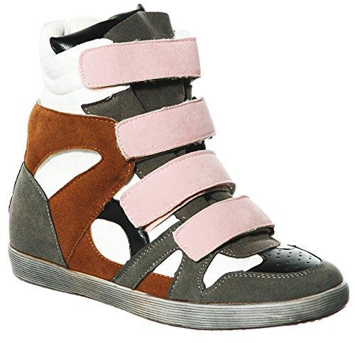 Hi Pl Wedge Women's R Top Sneakers grey Lace Fashion up shoewhatever EUwqU