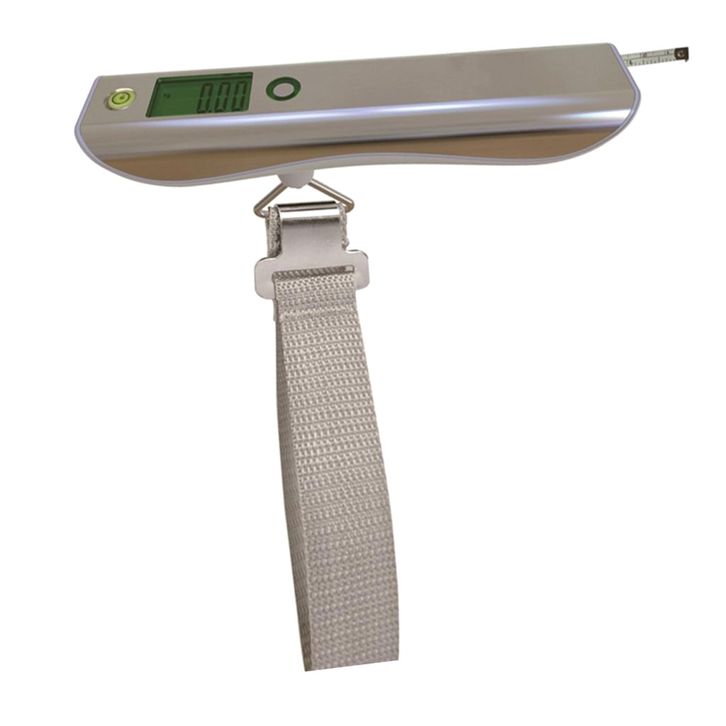HAMSWAN Digital Hanging Luggage Scale 110 lb//50kg High Precision Backlight LED Display Ultra-Portable Handheld Best for Travel 45.8x3.4x2.7 cm white Homyl Luggage Scales