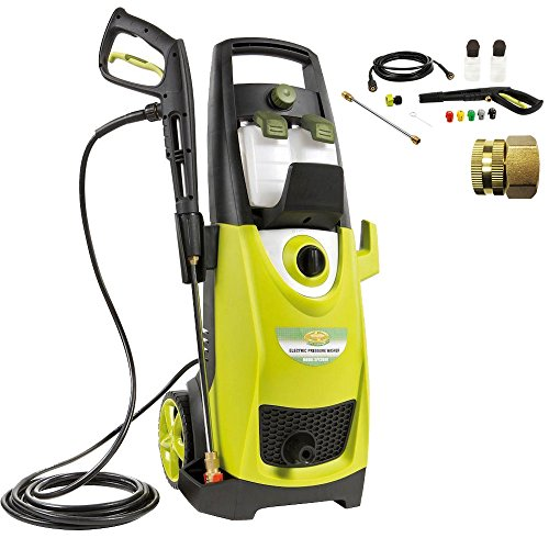 Sun Joe SPX3000 Pressure Joe 2030 PSI Electric Pressure Washer Accessory Bundle includes Pressure Washer, Quick-Spray Tip and Brass Connector