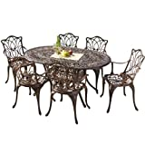 Best Selling Haitian Cast Aluminum Outdoor Dining Set, Set of 7 Review