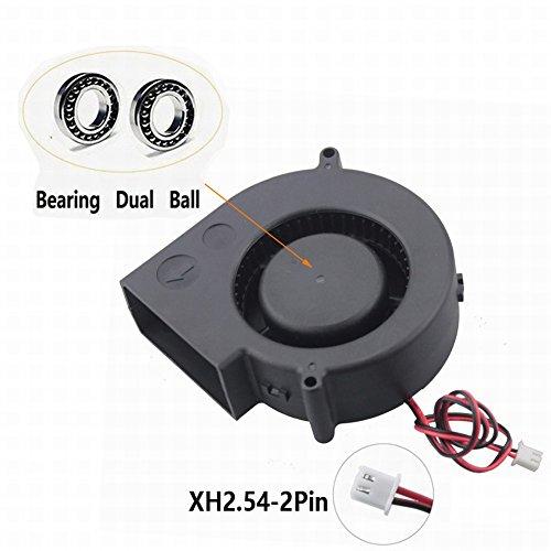 Gdstime Dual Ball Bearing 97mm x 97mm x 33mm 12V DC 32CFM Brushless Turbo Blower Cooling ()